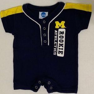 Infant University of Michigan Romper  3 - 6 months